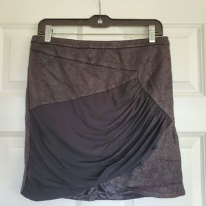 BEBE Black w/Gold Shimmer Mini Skirt Size Med.